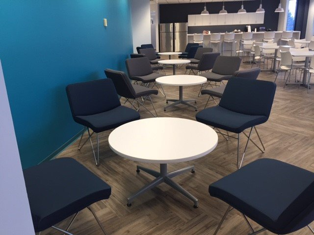 medical billing office expands into colorful new digs Textbook Buyback office furniture buyback