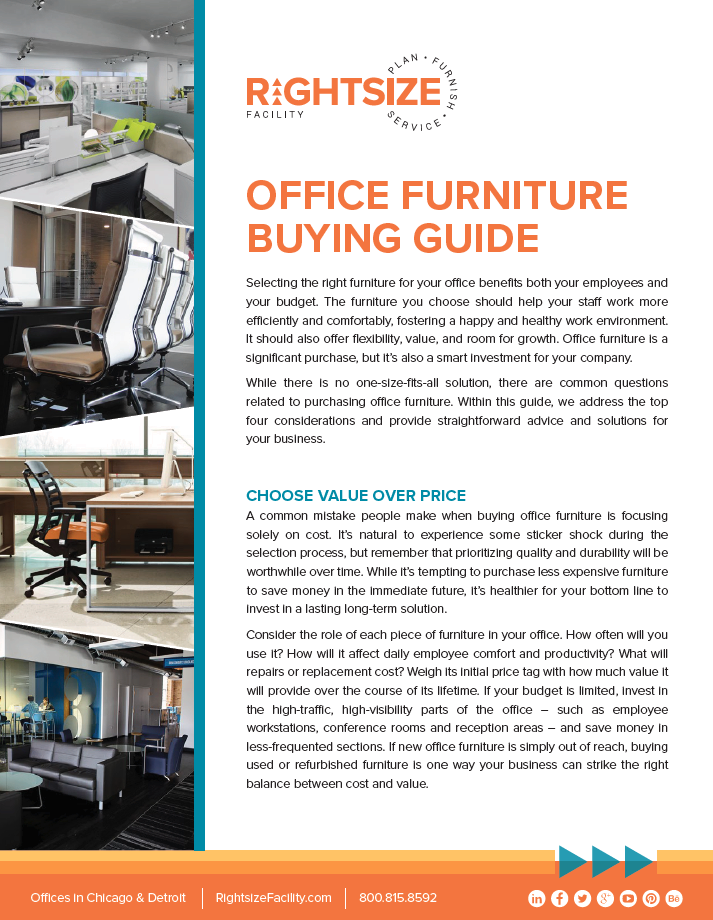 download our office furniture buying guide rightsize Buyback Program Textbook Buyback